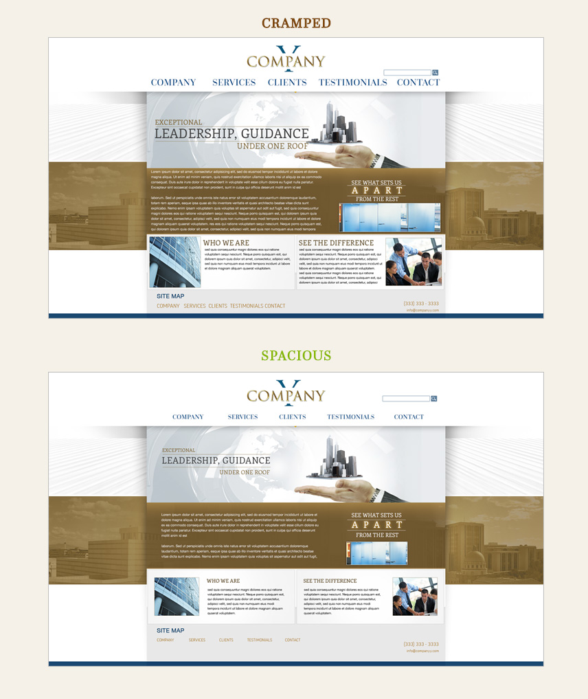 Web Design Spacing